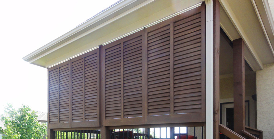 Superior Roman Shades Exterior Wood Shutters